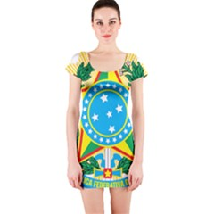Coat of Arms of Brazil, 1971-1992 Short Sleeve Bodycon Dress
