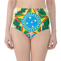 Coat of Arms of Brazil, 1971-1992 High-Waist Bikini Bottoms