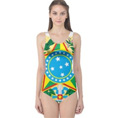 Coat of Arms of Brazil, 1971-1992 One Piece Swimsuit