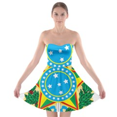 Coat of Arms of Brazil, 1971-1992 Strapless Bra Top Dress
