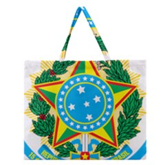 Coat of Arms of Brazil, 1971-1992 Zipper Large Tote Bag