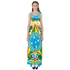 Coat of Arms of Brazil, 1971-1992 Empire Waist Maxi Dress