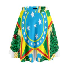 Coat of Arms of Brazil, 1971-1992 High Waist Skirt