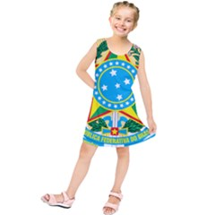 Coat of Arms of Brazil, 1971-1992 Kids  Tunic Dress