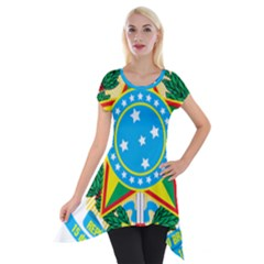 Coat of Arms of Brazil, 1971-1992 Short Sleeve Side Drop Tunic