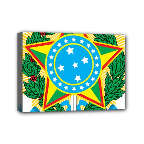 Coat of Arms of Brazil, 1968-1971 Mini Canvas 7  x 5