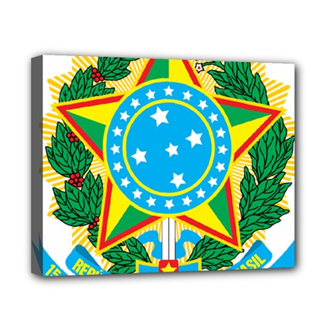 Coat of Arms of Brazil, 1968-1971 Canvas 10  x 8