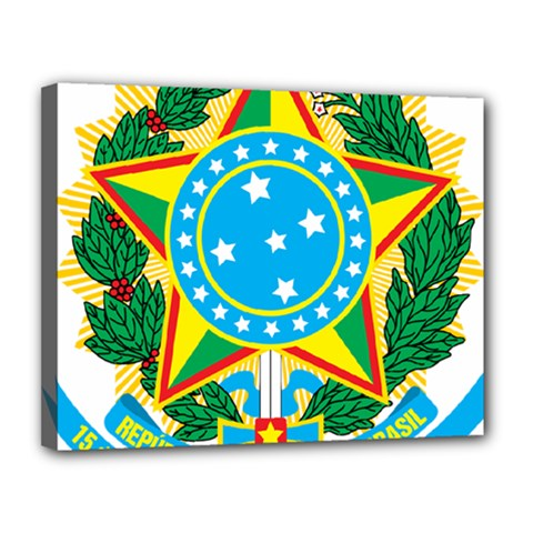 Coat of Arms of Brazil, 1968-1971 Canvas 14  x 11