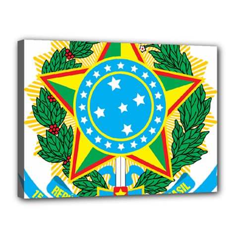 Coat of Arms of Brazil, 1968-1971 Canvas 16  x 12