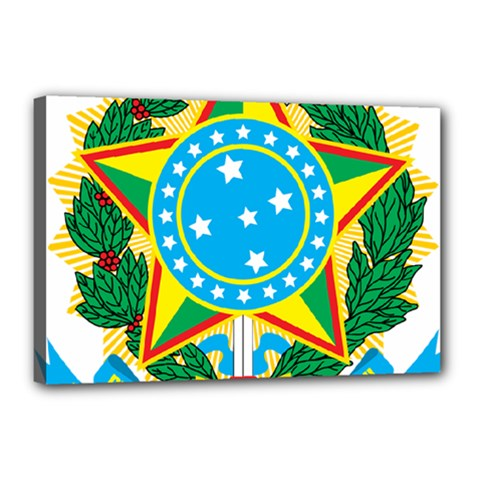 Coat of Arms of Brazil, 1968-1971 Canvas 18  x 12