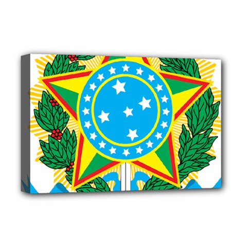 Coat of Arms of Brazil, 1968-1971 Deluxe Canvas 18  x 12