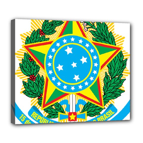 Coat of Arms of Brazil, 1968-1971 Deluxe Canvas 24  x 20