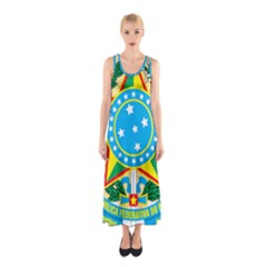 Coat of Arms of Brazil, 1968-1971 Sleeveless Maxi Dress