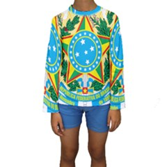 Coat of Arms of Brazil, 1968-1971 Kids  Long Sleeve Swimwear