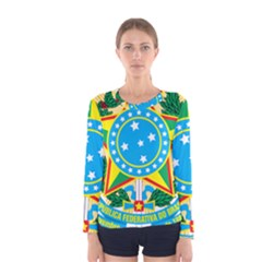 Coat of Arms of Brazil, 1968-1971 Women s Long Sleeve Tee