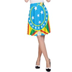 Coat of Arms of Brazil, 1968-1971 A-Line Skirt