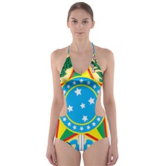 Coat of Arms of Brazil, 1968-1971 Cut-Out One Piece Swimsuit