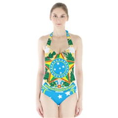 Coat of Arms of Brazil, 1968-1971 Halter Swimsuit