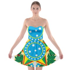 Coat of Arms of Brazil, 1968-1971 Strapless Bra Top Dress