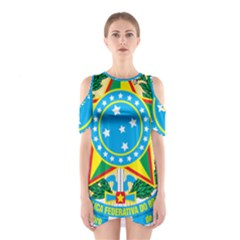 Coat of Arms of Brazil, 1968-1971 Cutout Shoulder Dress
