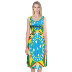 Coat of Arms of Brazil, 1968-1971 Midi Sleeveless Dress