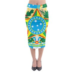 Coat of Arms of Brazil, 1968-1971 Midi Pencil Skirt