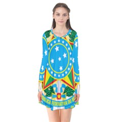 Coat of Arms of Brazil, 1968-1971 Flare Dress