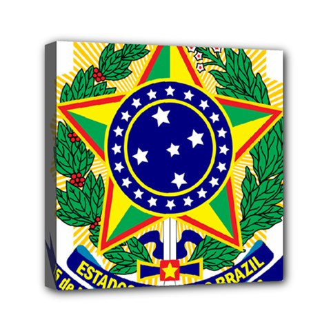 Coat of Arms of Brazil Mini Canvas 6  x 6