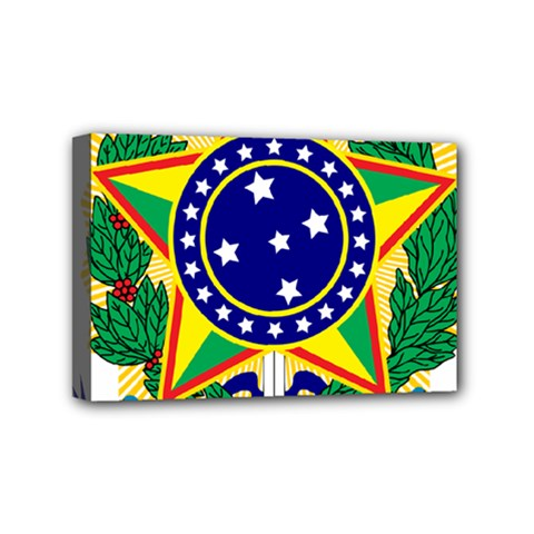 Coat of Arms of Brazil Mini Canvas 6  x 4