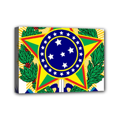 Coat of Arms of Brazil Mini Canvas 7  x 5