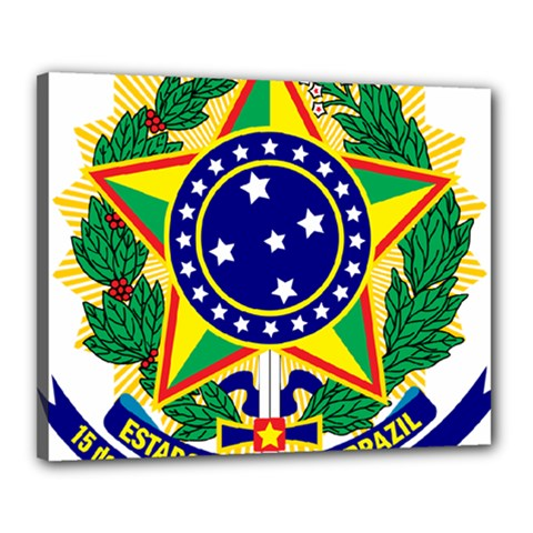 Coat of Arms of Brazil Canvas 20  x 16