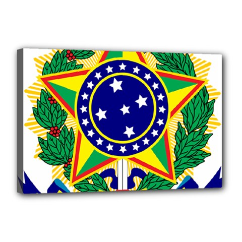 Coat of Arms of Brazil Canvas 18  x 12