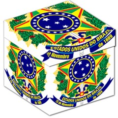 Coat of Arms of Brazil Storage Stool 12