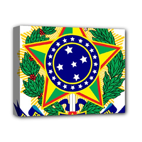 Coat of Arms of Brazil Deluxe Canvas 14  x 11
