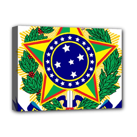 Coat of Arms of Brazil Deluxe Canvas 16  x 12