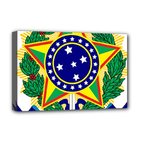 Coat of Arms of Brazil Deluxe Canvas 18  x 12