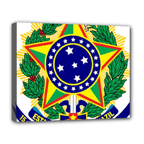 Coat of Arms of Brazil Deluxe Canvas 20  x 16