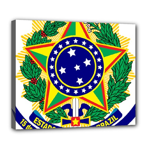 Coat of Arms of Brazil Deluxe Canvas 24  x 20