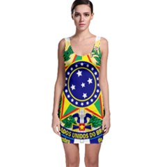 Coat of Arms of Brazil Sleeveless Bodycon Dress