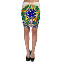 Coat of Arms of Brazil Bodycon Skirt