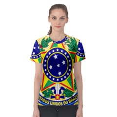 Coat of Arms of Brazil Women s Sport Mesh Tee