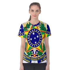 Coat of Arms of Brazil Women s Cotton Tee