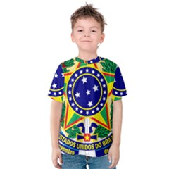 Coat of Arms of Brazil Kids  Cotton Tee