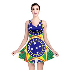 Coat of Arms of Brazil Reversible Skater Dress