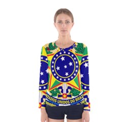 Coat of Arms of Brazil Women s Long Sleeve Tee