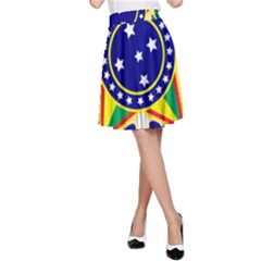 Coat of Arms of Brazil A-Line Skirt