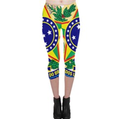 Coat of Arms of Brazil Capri Leggings