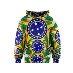 Coat of Arms of Brazil Kids  Pullover Hoodie