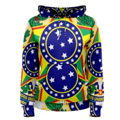 Coat of Arms of Brazil Women s Pullover Hoodie