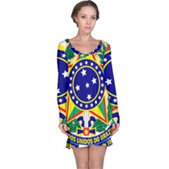 Coat of Arms of Brazil Long Sleeve Nightdress